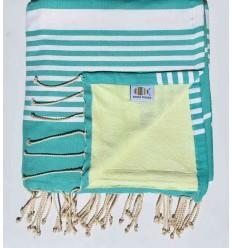 toalla de playa duplicado esponja verde menta verde lima