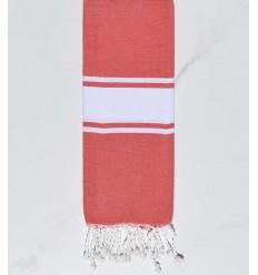 toalla de playa para niños rojo pálido