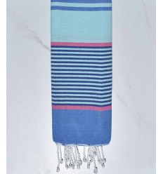 toalla de playa para niños Azur mist, rosa, azul aciano y azul