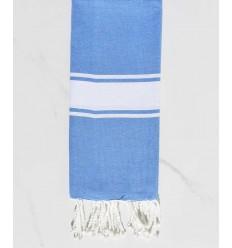 toalla de playa para niños azul cerúleo
