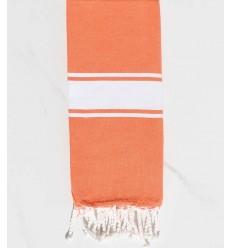 toalla de playa para niños coral naranja