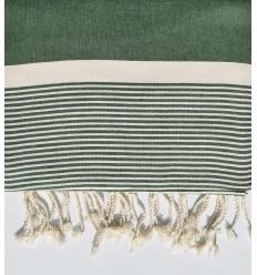 Tiró Musgo verde con rayas