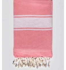Toalla de playa esponja rosa encarnada