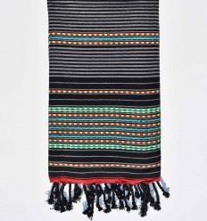 toalla de playa arabesco con rayas negras