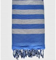 toalla de playa Esponja gris y azul