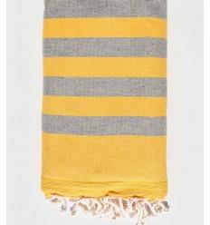 toalla de playa Esponja amarilla y gris