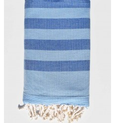 Toalla de playa esponja azul claro y azul