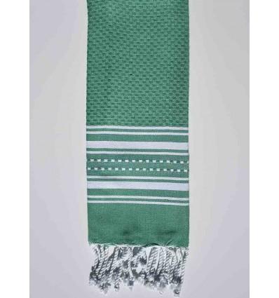 Mini toalla verde hierba con rayas
